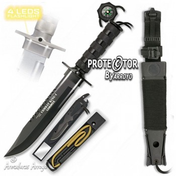 Cuchillo Supervivencia led Tactico